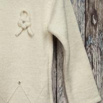 Rochie tricotata crem
