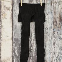 Pantaloni tricotati negri